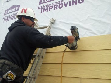 siding in progress